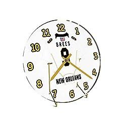 Drew Brees 9 MVP New Orleans Saints Desktop Clock - National Football League Legends Edition !! White