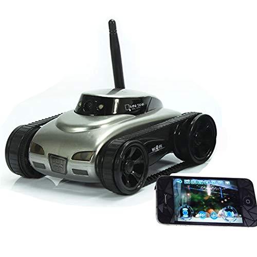 Coche de Control Remoto RC, Regalo de Juguete de 2.4GHz con transmisión de Voz en Tiempo Real, Imagen en Tiempo Real, Modo de visión Nocturna LED, Modo de visión Nocturna infrarroja,Plata