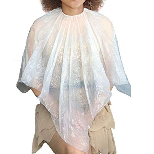 VAINECHAY 50PCS Jetables Cou Châle Salon Coiffure Coupe Cheveux Découpage Colorant Shampooing Cape 100 * 100CM