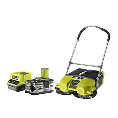 Pack RYOBI OnePlus R18SW3-0G 18V Motorisierte Kehrmaschine - 1 Akku 5.0Ah - 1 Schnellladegerät 2.0Ah RC18120-150