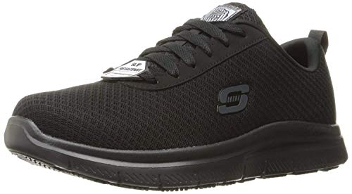 Skechers Work Flex Advantage SR - Bendon Black Mesh/Water/Stain Repellent Treatment 10