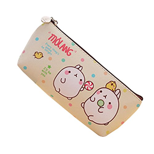 Idyandyans Cute Kawaii Molang Rabbit Waterproof Storage Pen Pencil Bag Stationery