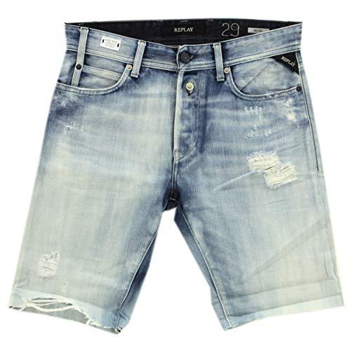 Replay, Beachwear, Herren Herren Kurze Shorts Badeshorts Sport Freizeitshort Microfaser Orange S [22119]