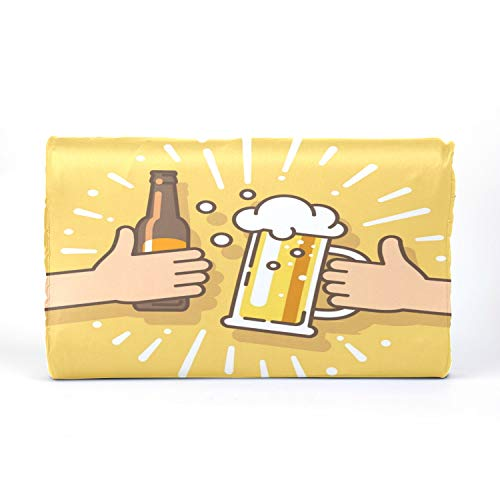 QiyI LatexMemoryFoamPillows HeadPillow Latex Pillow with Beer Drink Agreed Deal Cheers Cotton Pillowcase 17.3 X 9.9 X 2.3 in for Boys Girls 2-10 Years Old Children