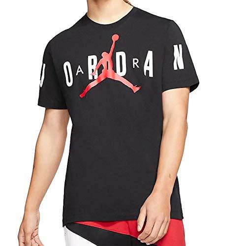 Nike Jordan Stretch Men's Short-Sleeve Crew CZ1880-010 Black/White/Gym Red Black/White/Gym Red XS