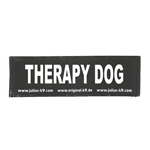 Julius-K9 162LR-G-41092 Klettaufschrift, THERAPY DOG, schwarz