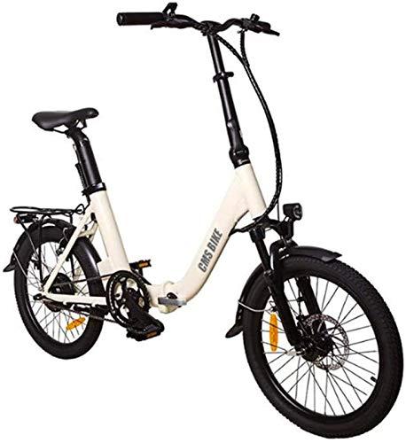 Fangfang Bicicletas Eléctricas, Bicicleta Plegable eléctrica 16 '' 36V 250W Aluminio Bicicleta eléctrica de Ciclo al Aire Libre Trabajar el Cuerpo Viaje Capacidad de Carga 110 Kg,Bicicleta