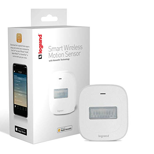 Legrand-On-Q Smart Motion Sensor, Works with Apple HomeKit, Wireless, Bluetooth Low Energy, HKMS2