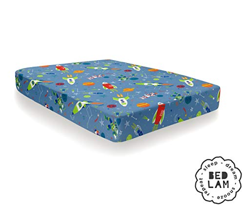 Bedlam SRCBE1DPGU Lenzuolo con Angoli, Blue, Fitted Sheet