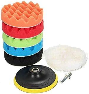RENNICOCO 8 unids//Kit Pulido Almohadillas Esponja de Lana Pulido Encerado Buffing Pads Kit para Auto Pulidores de Coches
