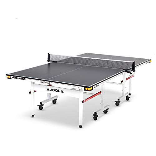 JOOLA Rally TL - Professional MDF Indoor Table Tennis Table w/ Quick Clamp Ping Pong Net & Post Set - 10 Minute Easy Assembly - Corner Ball Holders - Ping Pong Table w/ Playback Mode,
