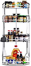 Home Living Museum/Stainless Steel Kitchen Rack Floor Multi Layer Pot Rack Microwave Storage Rack Storage Rack Home Shelf ...
