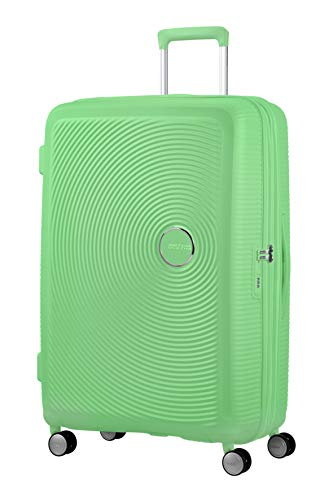 American Tourister Soundbox - Spinner L Expandible Maleta, 77 cm, 97/110 L, Verde (Spring Green)