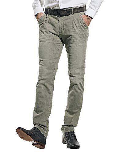 emilio adani Herren High Stretch Jeans, 31246, Beige in Größe 32/34