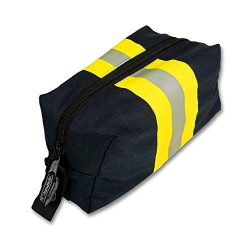 Kulturtasche blau aus Feuerwehr Einsatzkleidung