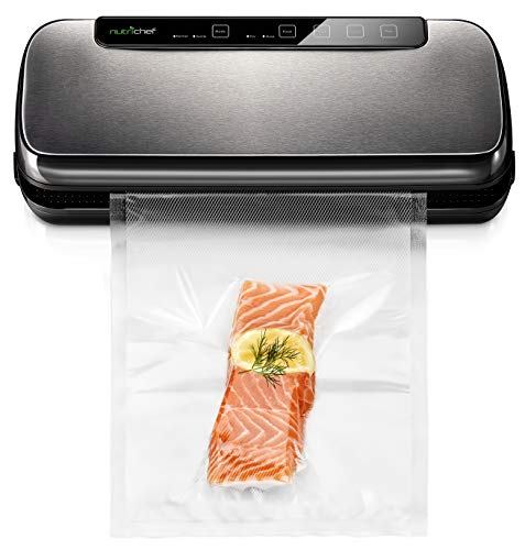 Vacuum Sealer By NutriChef | Automatic Vacuum Air Sealing System For...