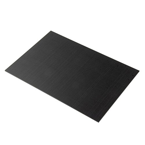 Dooret Piastra in fibra di carbonio 200 * 300 * 3mm con entrambi i lati Pannello di superficie lucida Foglio 3K Tessuto normale