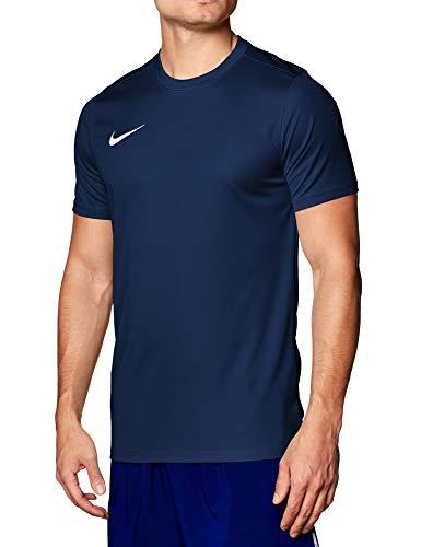 Nike M Nk Dry Park VII JSY SS, Maglietta a Maniche Corte Uomo, Blu (Midnight Navy/White), L