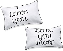Best DasyFly I Love You and Love You More Couples Pillowcases,Love Gifts for Boyfriend Girlfriend,His Hers Gifts for Couples for Him and Her in Love, for Wedding,Engagement,Valentine