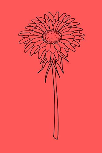 Gerbera Lined Blank Notebook Drawing Pad: Unlined Ruled Pages Book (6 x 9 inches) - 120 Pages Journal II Planning, Drawing, Sketching, Writing,: Gerbera Icon Design gift
