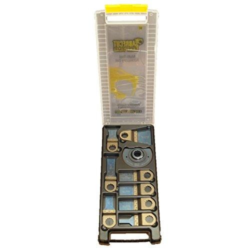 31 x SabreCut BB_SCK31 Mix Blades Case set Compatible with Fein SuperCut and Festool Vecturo (Non-StarLock) Oscillating Multitool Multi Tool Accessories