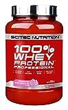 Pròtain beathachaidh Scitec 100% Proifeasanta Protein Whey, Seoclaid Geal Strawberry, 920