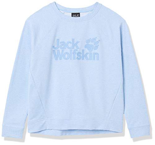 Jack Wolfskin Logo Sweatshirt Femme Sweatshirt Femme Ice Blue FR : XL (Taille Fabricant : XL)