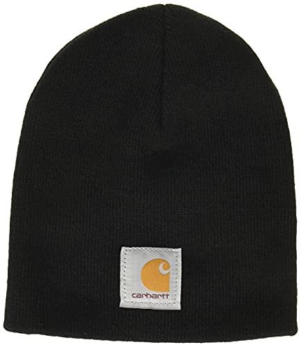 Carhartt Unisex-Adult Knit Hat Beanie Hat, Black, OFA
