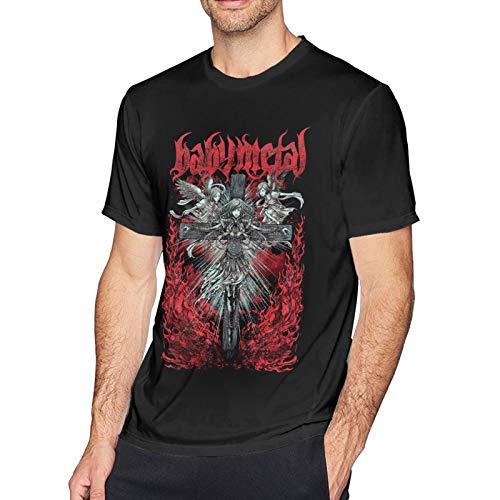 Babymetal T Shirt Black XL Men T-Shirt aus Baumwolle für Herren Kurzarm Männer Tshirt Rundhalsausschnitt