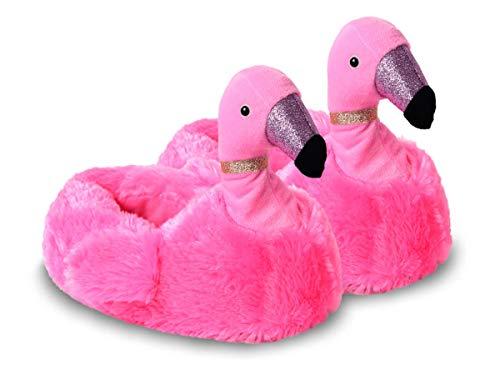 Shirt-Panda Plüsch Hausschuhe · Einhorn Alpaka Flamingo · Süße Tiere Lustige Puschen Fun Warm Antirutsch Pantoffel Damen Kinder Mädchen Gemütliche Slipper · (Flamingo (Pink), Numeric_40)