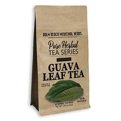 Guava Leaf Tea - Pure Herbal Tea Series by Palm Beach Medicinal Herbs (30 Tea Bags) 100% Natural