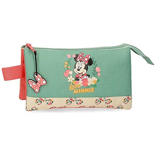 Disney Minnie Golden Days Astuccio a tre scomparti Multicolore 22 x 12 x 5 cm Poliestere
