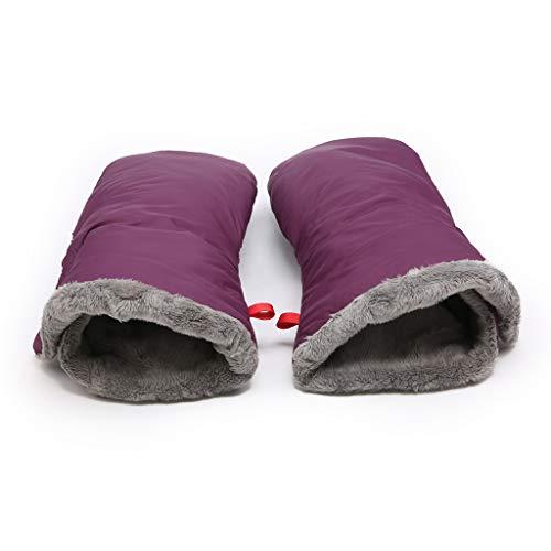 WDFVGEE - Guante para cochecito de bebé, anticongelante, para exteriores, para cochecito de bebé, guante para calentar las manos en invierno para calentarte