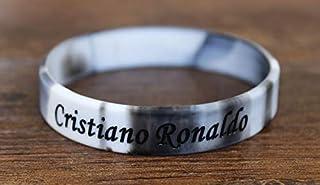 OUTLETISSIMO UN23 Boucles doreilles pour homme Argent Cristiano Ronaldo Acier inoxydable Diamant CZ rond 4 mm