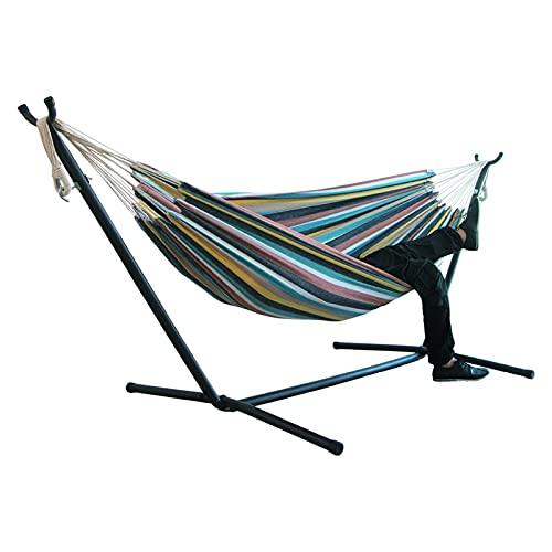 Amaca per due persone da campeggio spessa sedia a dondolo all'aperto amaca tela sedia a dondolo senza staffa 200 x 150 cm amaca portatile
