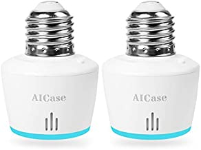 Smart Wifi E27/E26 Light Socket, AICase [2 Pack]Intelligent Wlan Home Remote control..
