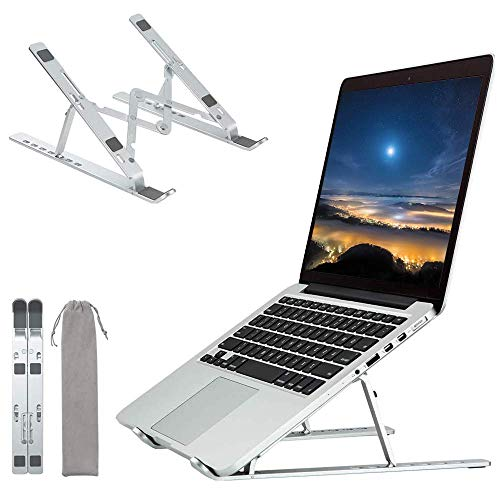 Laptop Stands, Ergonomic Adjustable Laptop Stand Ventilated Aluminum Laptop Stand Foldable Portable Tablet Stand Compatible for New MacBook Pro Air and Asus Samsung HP Dell Acer 9 to 15.6 inch