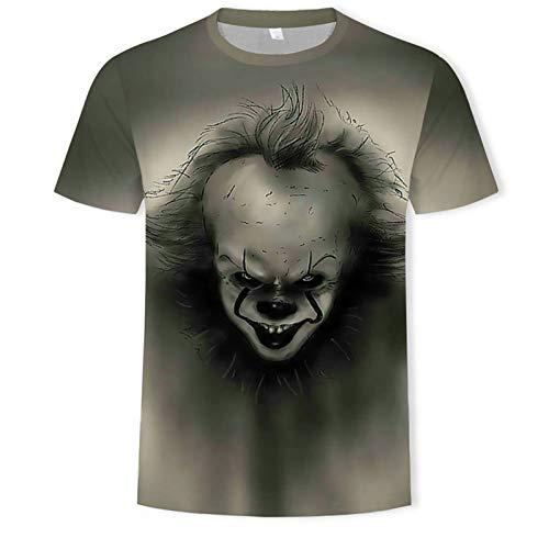 XIAOHU 3D imprimió Camisetas Camiseta de Verano de los Hombres de la película de los Hombres, Camisetas de Payaso Personalizadas de Halloween Hombre de la Camiseta