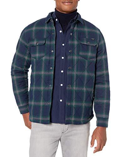 UNIONBAY Men's Long Sleeve Button-up Flannel Shirt Jacket, Adler, Large