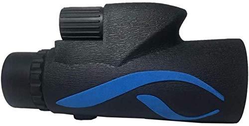 ZHCJH Monocular Compacto de Alta Potencia 10x50 con visión Nocturna Monocular de Lente FMC con Prisma BAK4 Duradero con Adaptador para teléfono Inteligente y trípode para observación de Aves