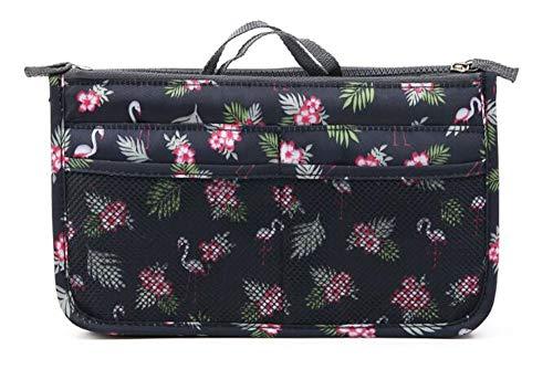 NOVAGO Handtaschenordner, Einlage, Einsatz 12 Taschen groß 28x17x8cm (Flamingo/Schwarz)