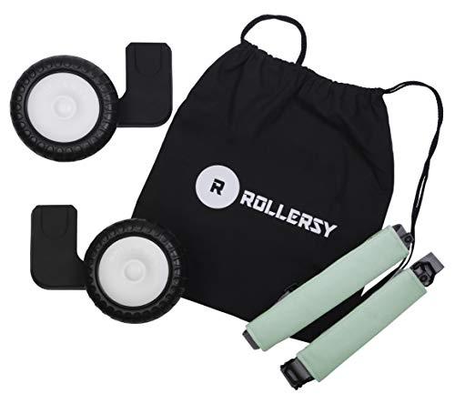 ROLLERSY - Räder mit Griff/Tragegurt für eine Babyschale 0-13 kg, Kinderwagenspielzeug, Farbe: FROST MINT