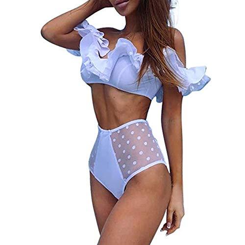 Happy Together Mode Frauen Rüschen Bikini neue Frauen Badeanzug (Größe : L)