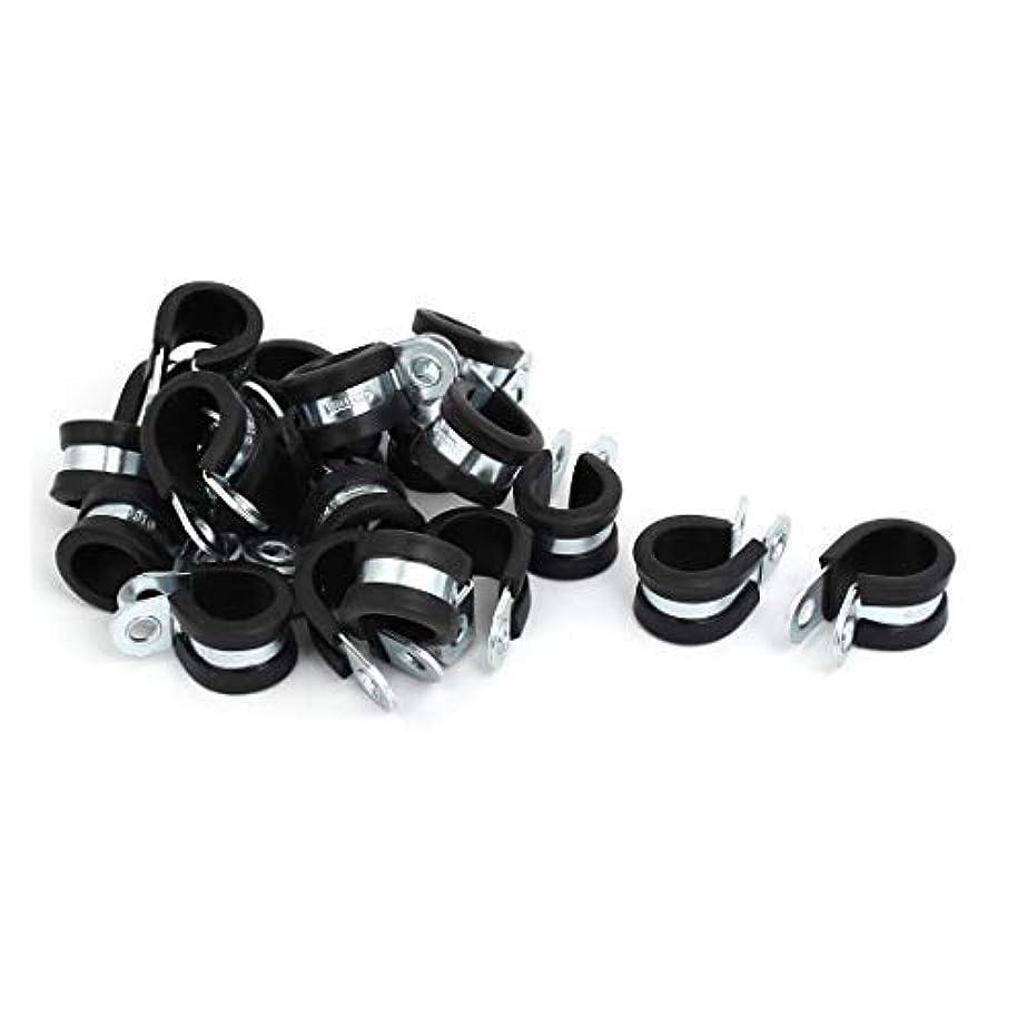 チャンス宿題アダルトTOUHIA 5/8-inch(16mm) Dia Rubber Lined R Shaped Zinc Plated Pipe Clip Cable Clamp(20Pcs) [並行輸入品]