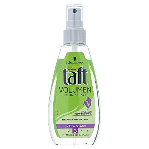 Schwarzkopf 3 Wetter Taft Föhn-Spray Volumen normales Haar extra starker Halt 3, 150 ml