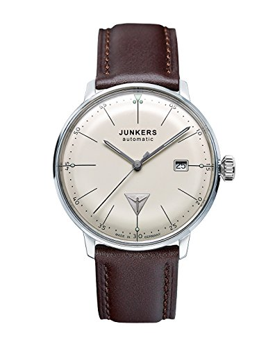 Junkers Bauhaus Swiss ETA Automatic Watch with Domed...