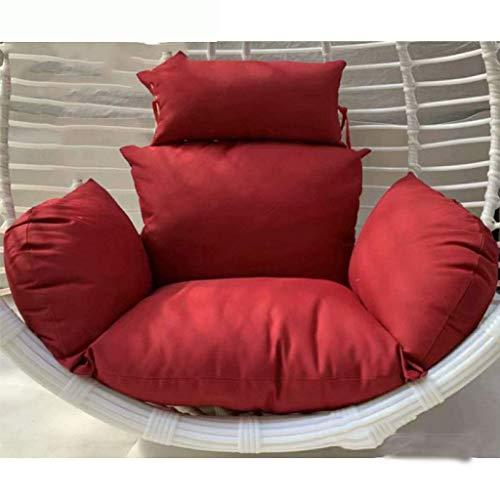CHHD Coussins de siège de balançoire, Furniture Outdoor Patio Wicker Basket Hanging Chair Swing Chair Tear Drop Egg Chair Cushion (Color: Blue) NO Chair