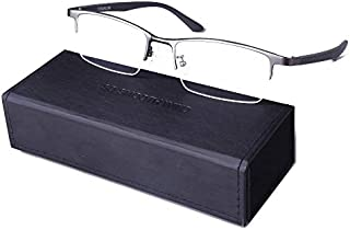 Pure Titanium Men Rectangle Eyewear Half Rim Business...