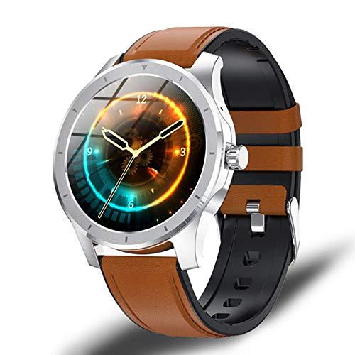 ZGLXZ A Estrenar 2021 Tienda Music Smart Watch 1.28 Pulgadas Pantalla Redonda MX10 Bluetooth Call Watch 512M Memory, Music Local Smartwatch para Android iOS,D