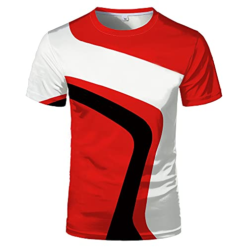Casuales Camisas Hombre Moderno Urbano Básico Regular Fit Cuello Redondo Hombre Shirt Verano Moda Empalme...